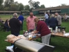 The barbecue in full swing