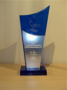The Trophy won in 2007 for 2nd BEST Young Fancier of the RPRA Cumbria Region.