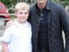 Young Fancier Scott with ITV presenter Gethin Jones